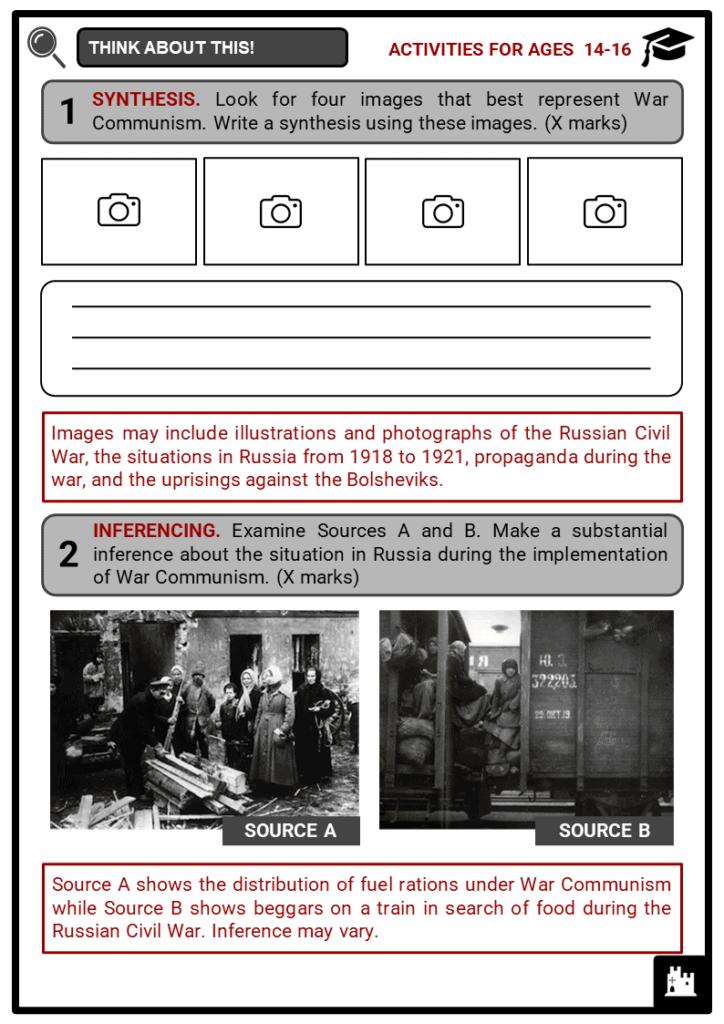 War Communism Student Activities & Answer Guide 4