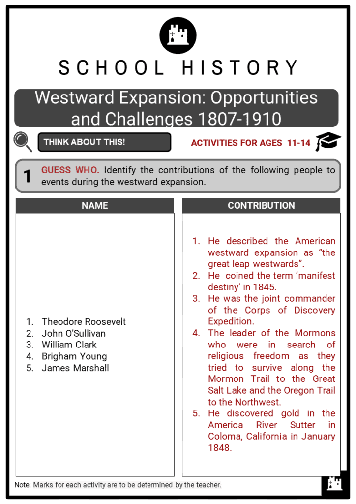 Westward Expansion_ Opportunities and Challenges 1807-1910 Student Activities & Answer Guide 2