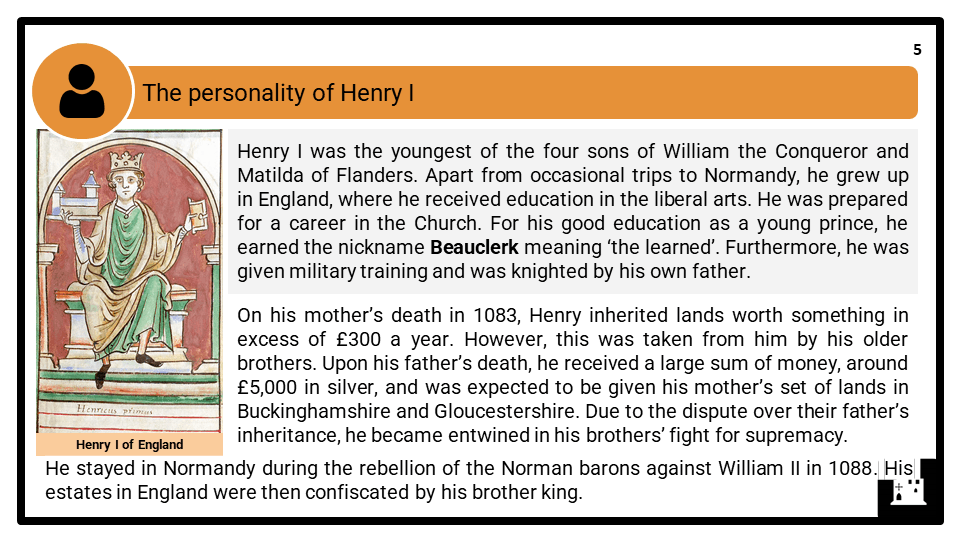 A Level Henry I, 1100-1135 Presentation 1