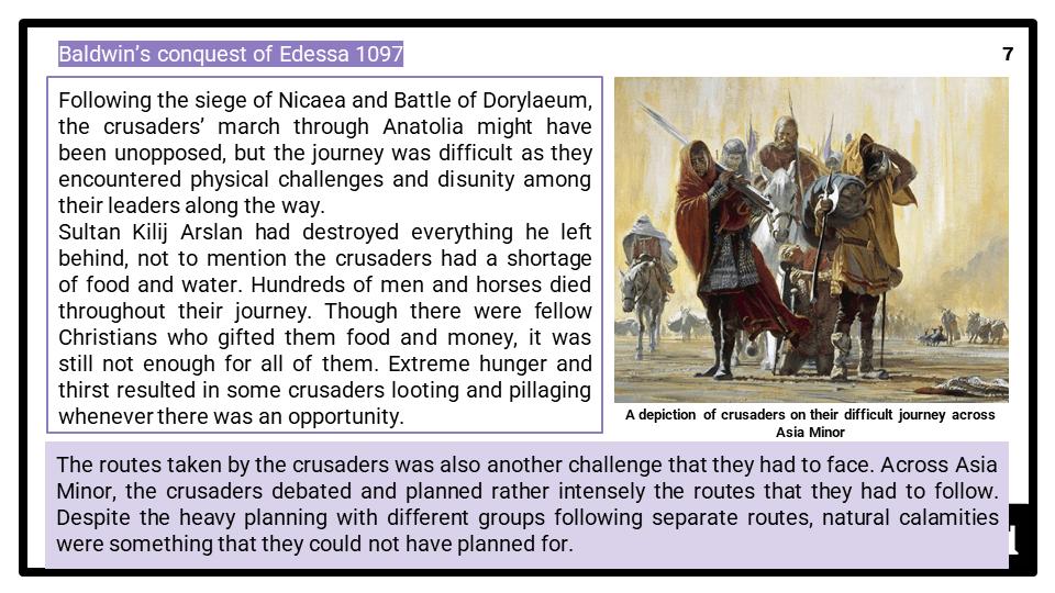 A Level Leadership of the Crusades, 1095-1192 Presentation 3