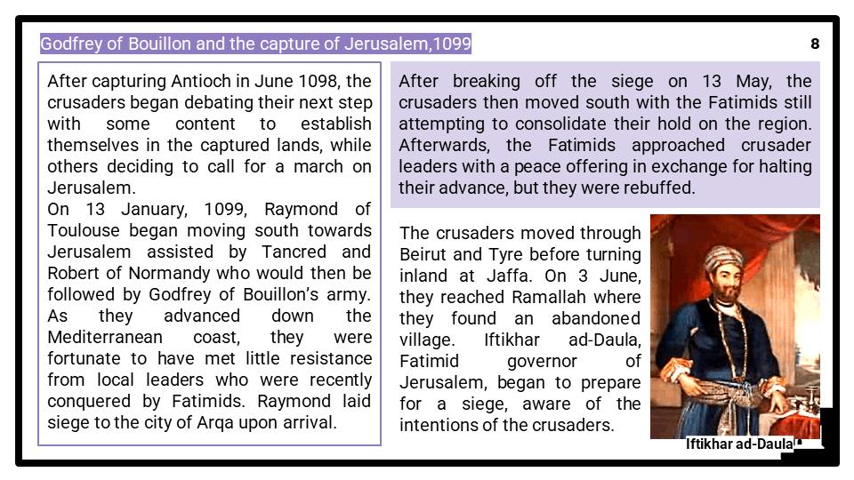 A Level Leadership of the Crusades, 1095-1192 Presentation 4