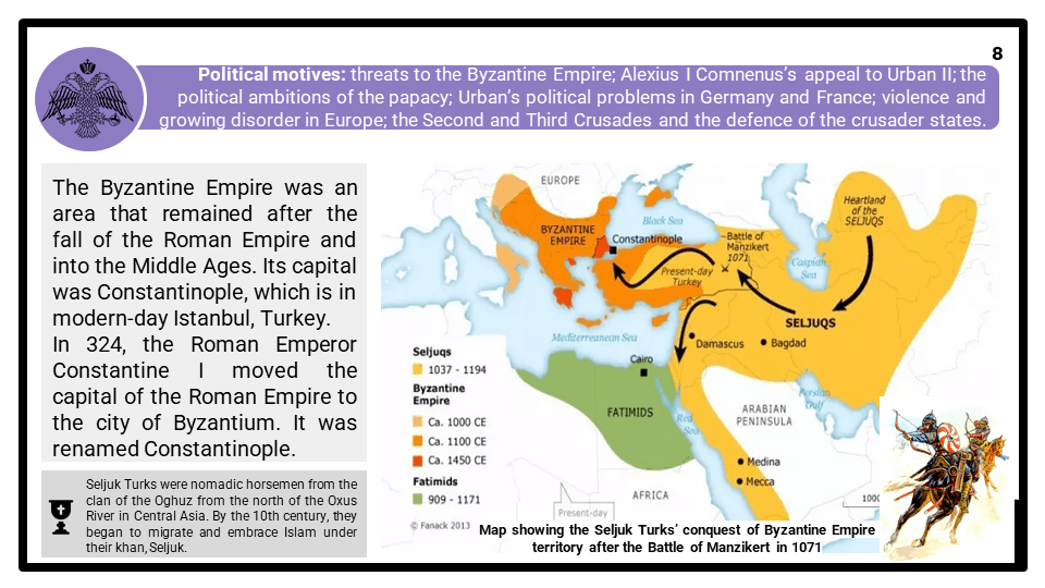 A Level Reasons for the crusades, 1095-1192 Presentation 4