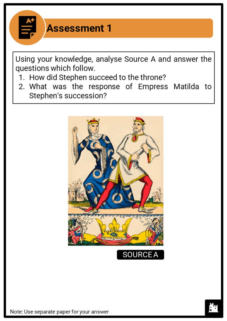 A Level Stephen, 1135-1154 Assessment 1