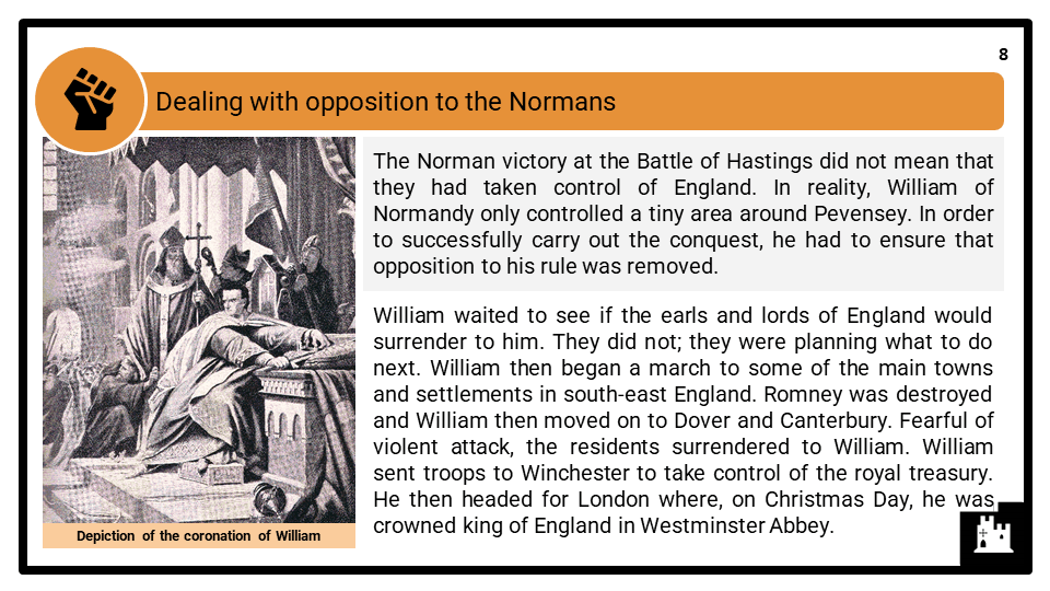 A Level The Norman Conquest of England_ William I, 1066-1087 Presentation 3