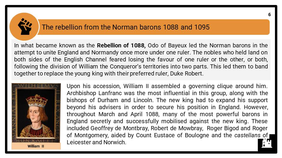 A Level William II Rufus, 1087-1100 Presentation 2