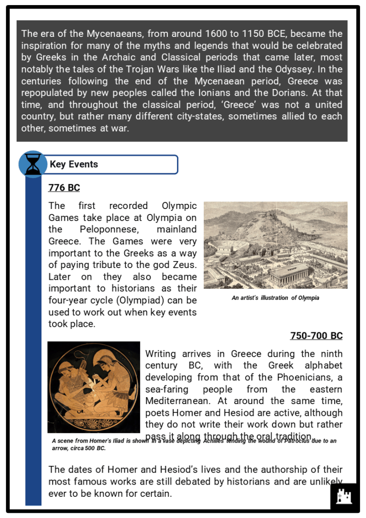 Ancient Greece Timeline Resource Collection 2