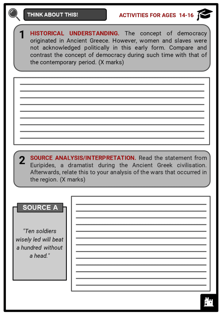 Ancient Greece Timeline Student Activities & Answer Guide 3