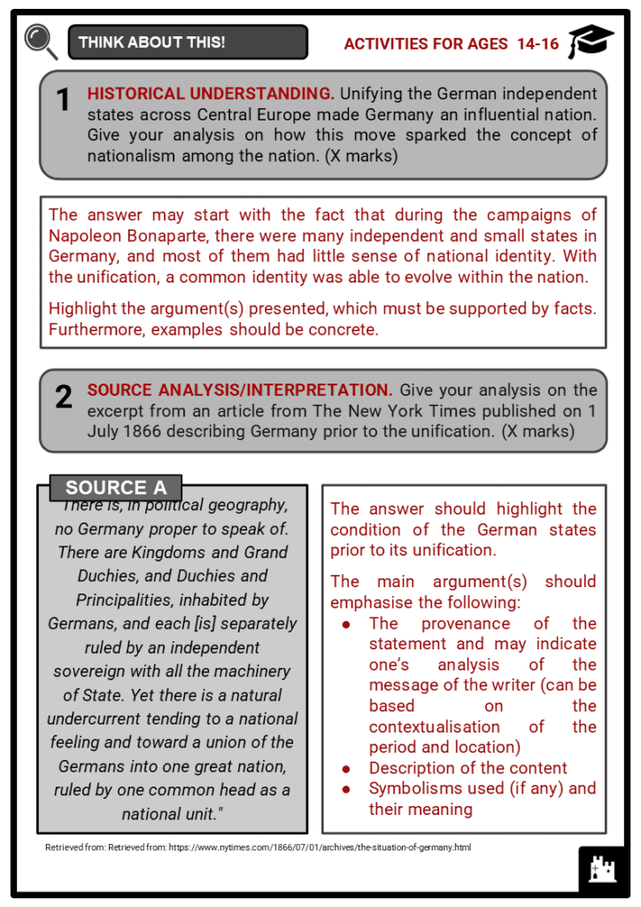 German Unification Student Activities & Answer Guide 4