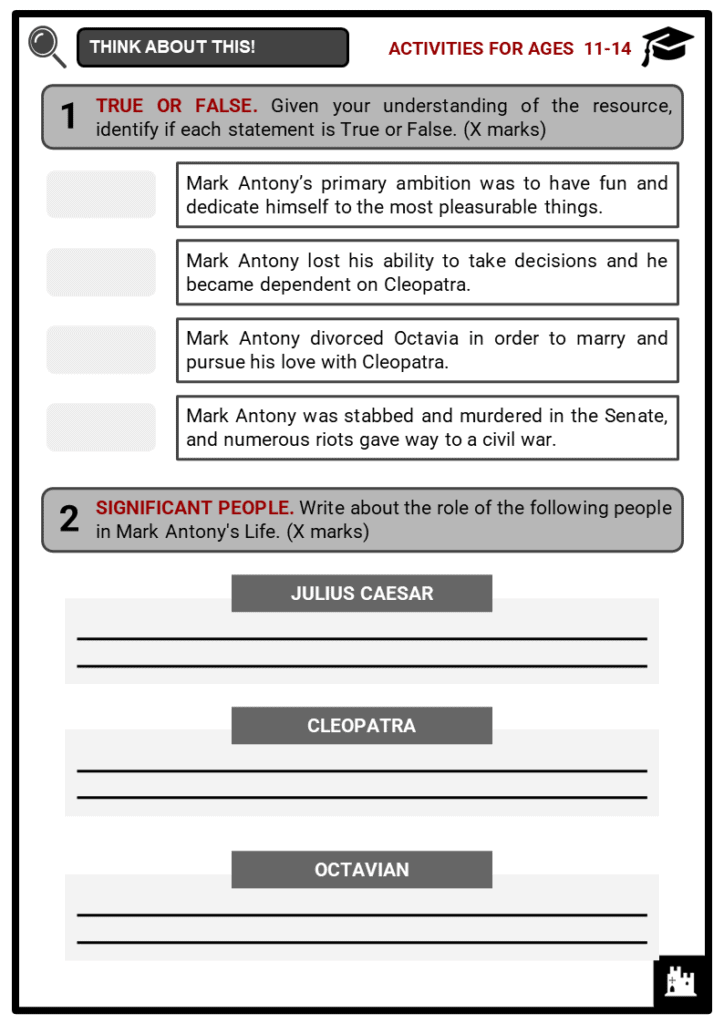 Mark Antony Student Activities & Answer Guide 1