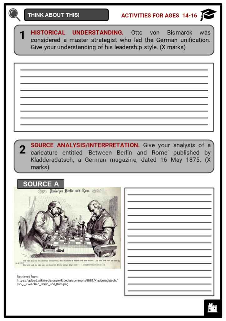 Otto von Bismarck Student Activities & Answer Guide 3