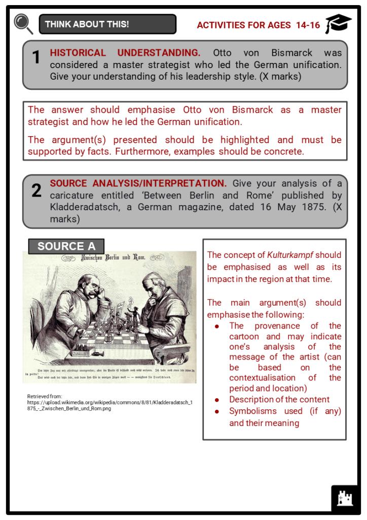 Otto von Bismarck Student Activities & Answer Guide 4