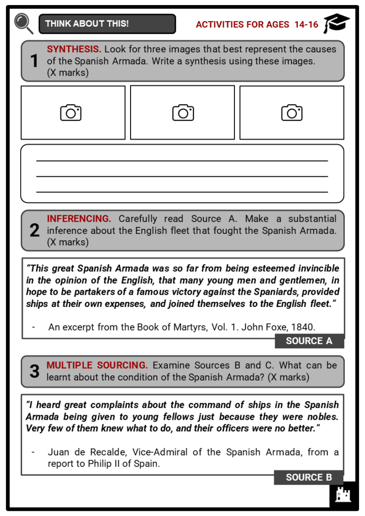 Spanish Armada Student Activities & Answer Guide 3