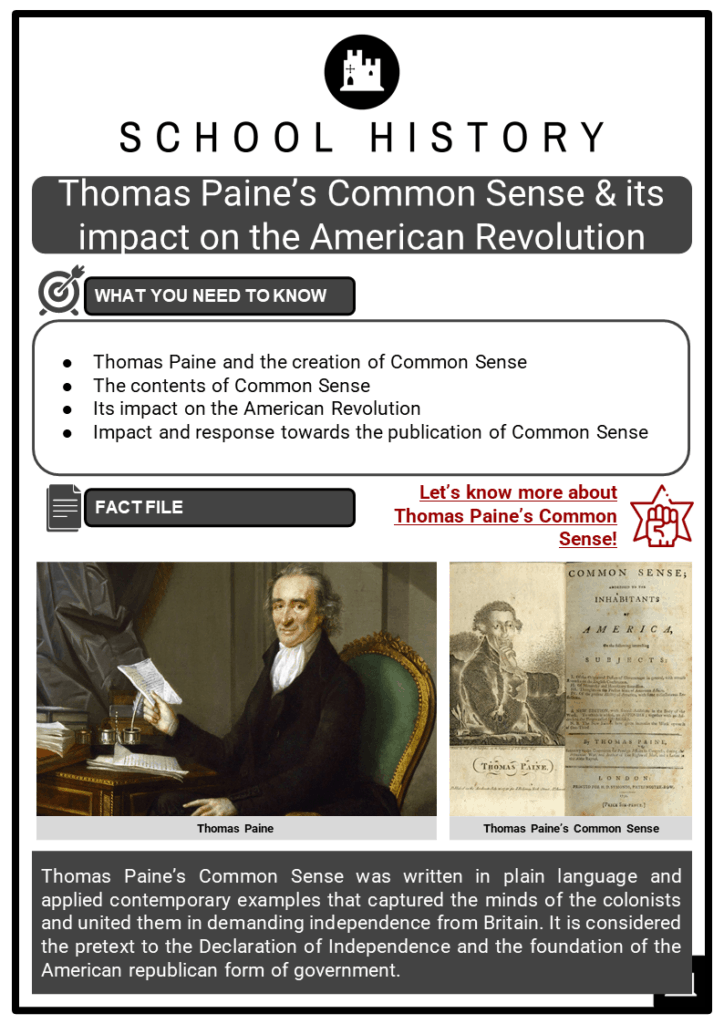 Thomas Paine's Common Sense _ its impact on the American Revolution Resource Collection 1