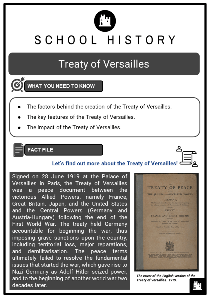 Treaty of Versailles Resource Collection 1