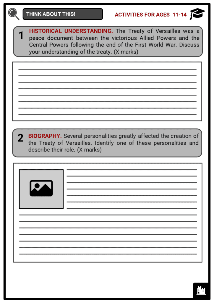 Treaty of Versailles Student Activities & Answer Guide 1