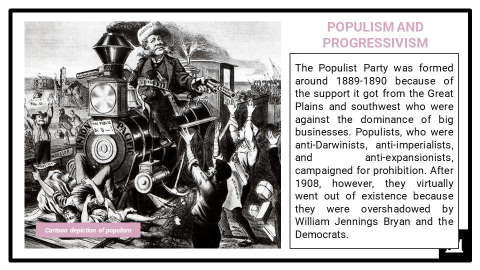 A Level Populism, progressivism and imperialism, 1890-1920 Presentation 3