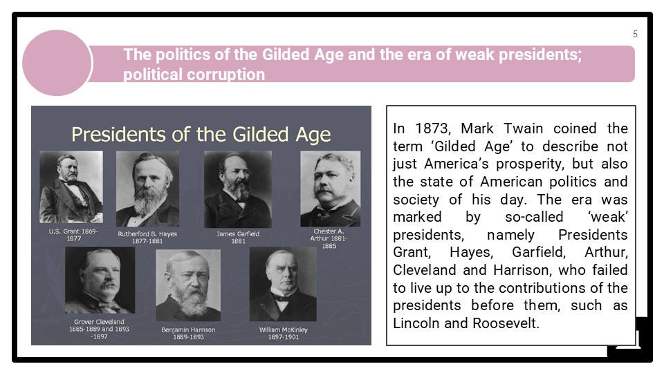 A Level The Gilded Age, 1865-1890 Presentation 1