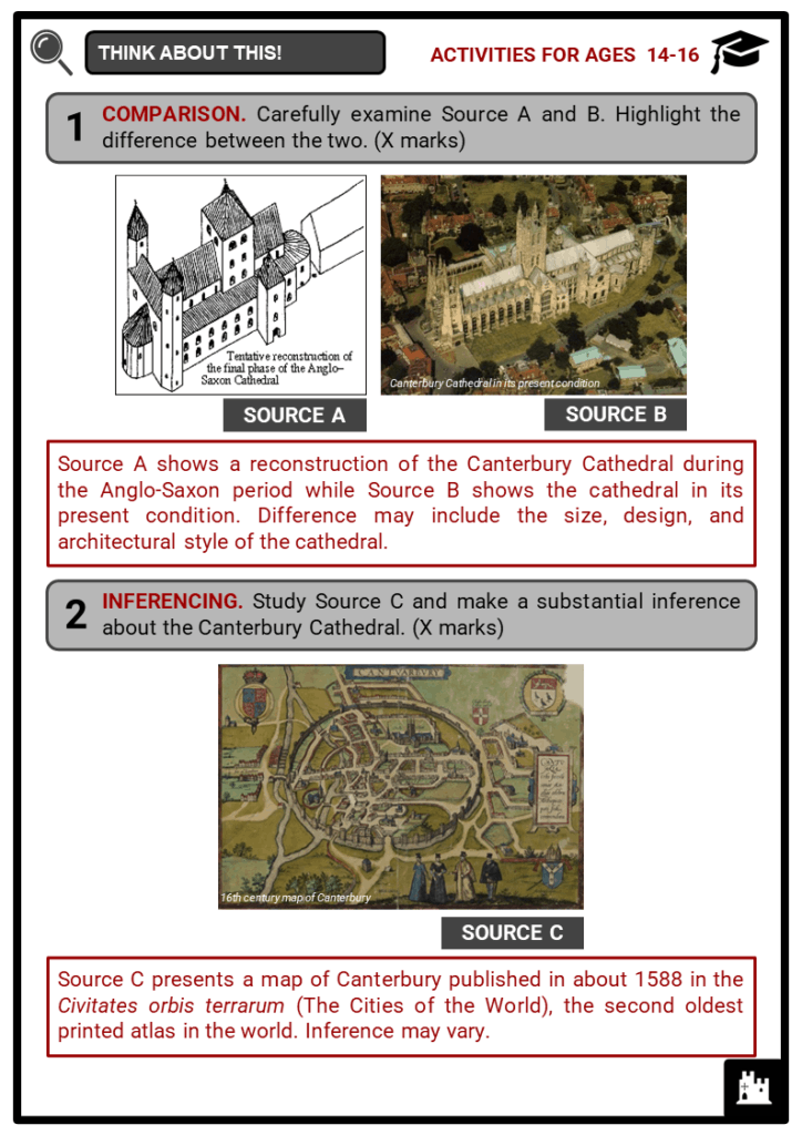 Canterbury Cathedral Student Activities & Answer Guide 4