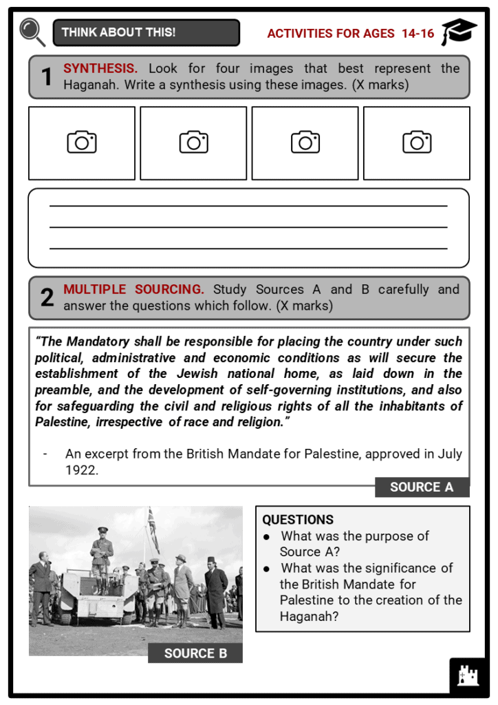 Haganah Student Activities & Answer Guide 3