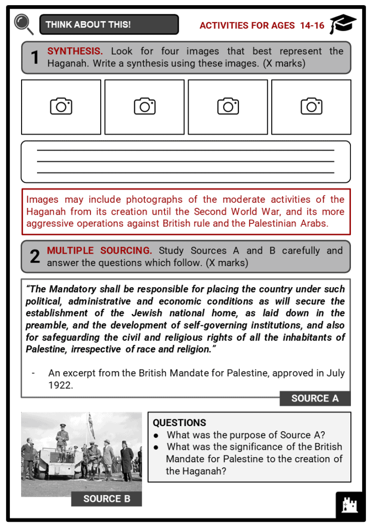 Haganah Student Activities & Answer Guide 4