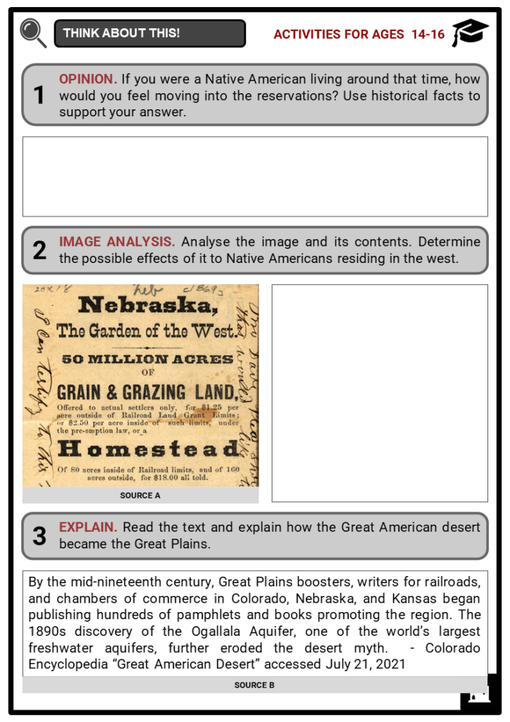 Pioneer Farmers Of The Great Plains Student Activities & Answer Guide 3