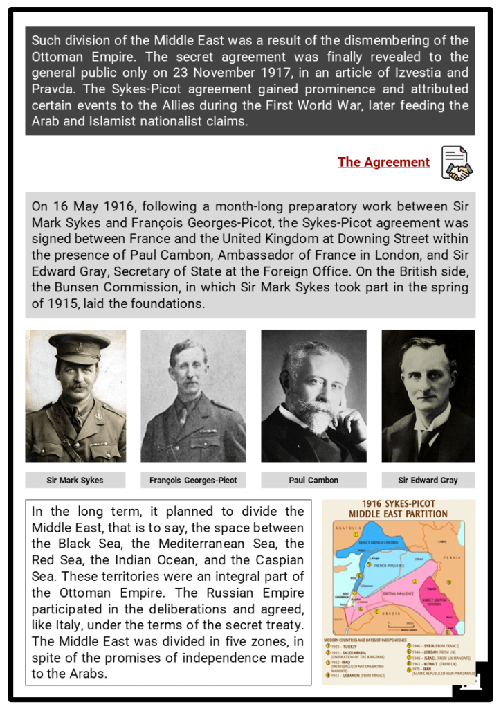 Sykes-Picot Agreement Resource Collection 2