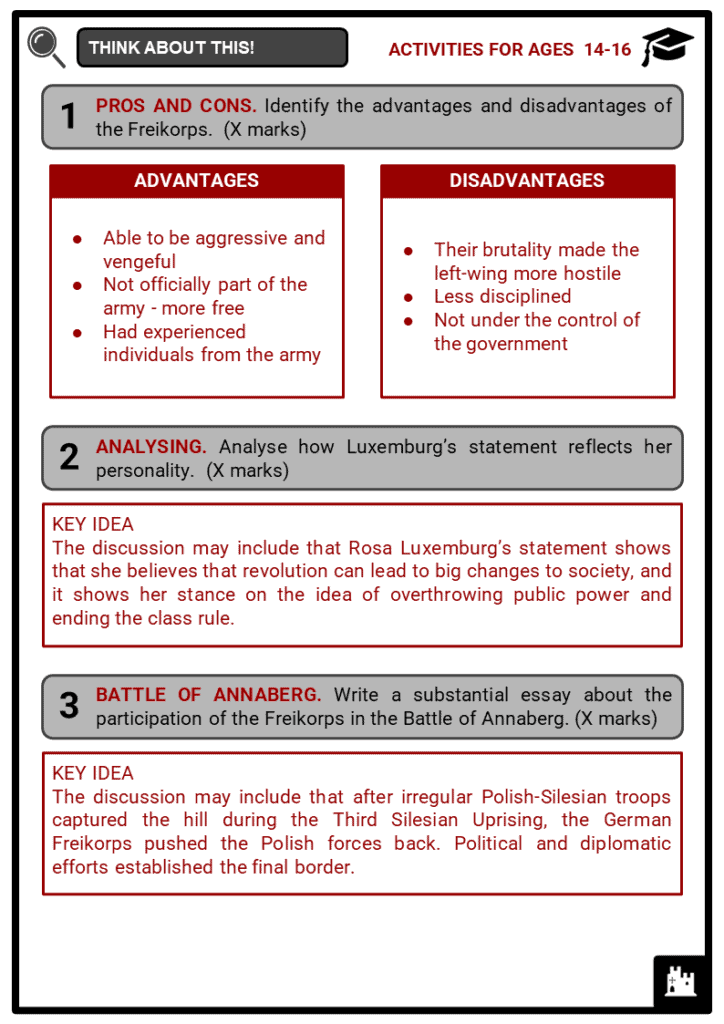 The Freikorps Student Activities & Answer Guide 4