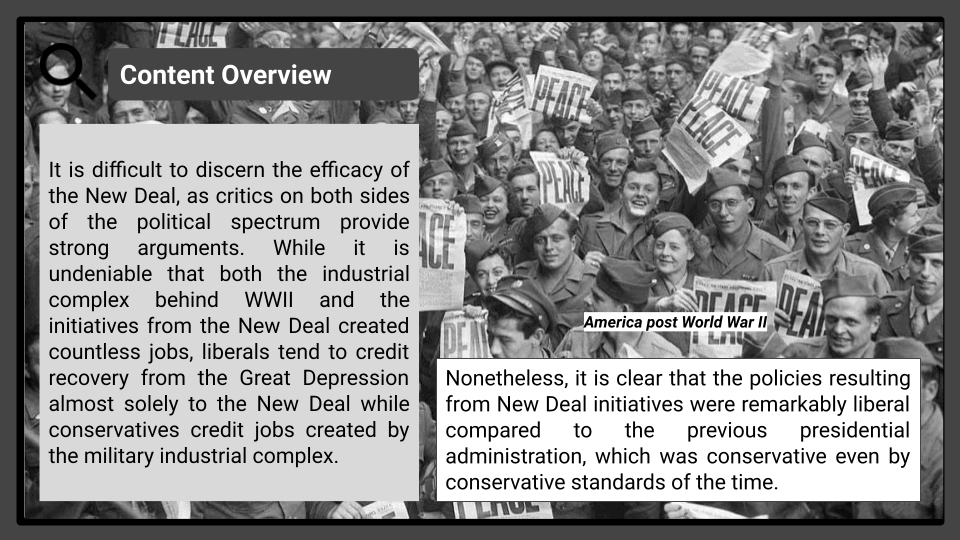 A Level Impact of the New Deal and the Second World War 1945-1955 Presentation 1