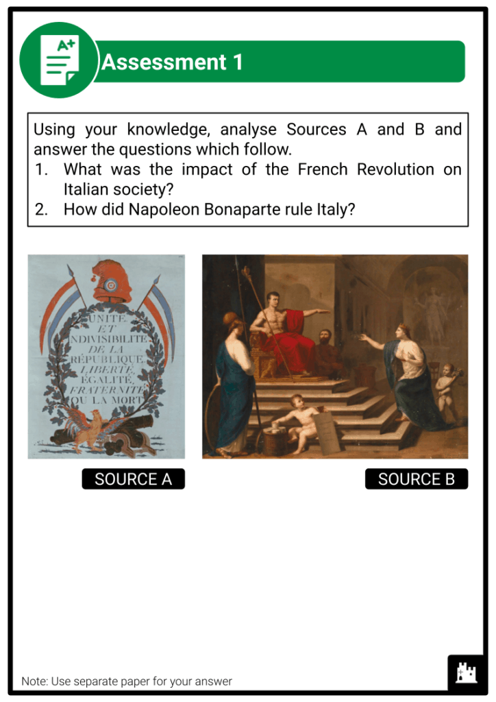 A Level Italy, 1789-1896 Assessment 1