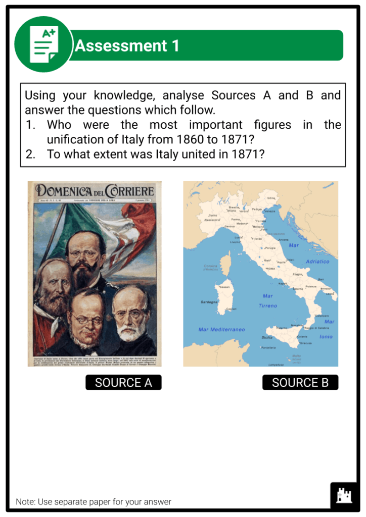 A Level Italy, 1789-1896 Assessment 2