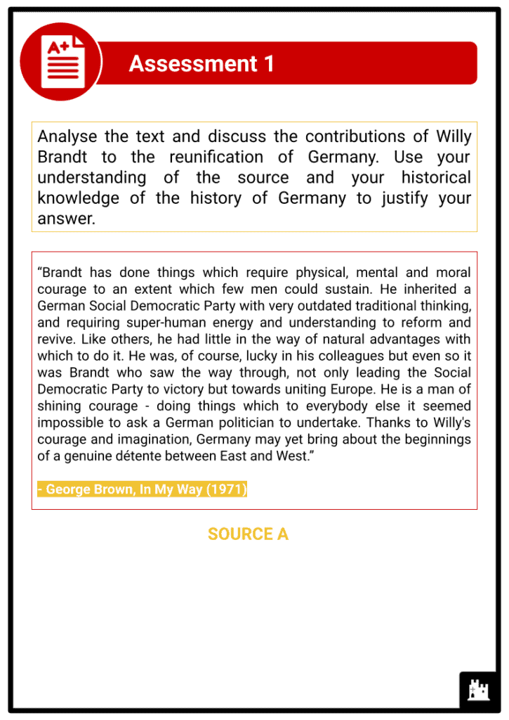 A Level The Federal Republic of Germany, 1945-89 Assessment 2