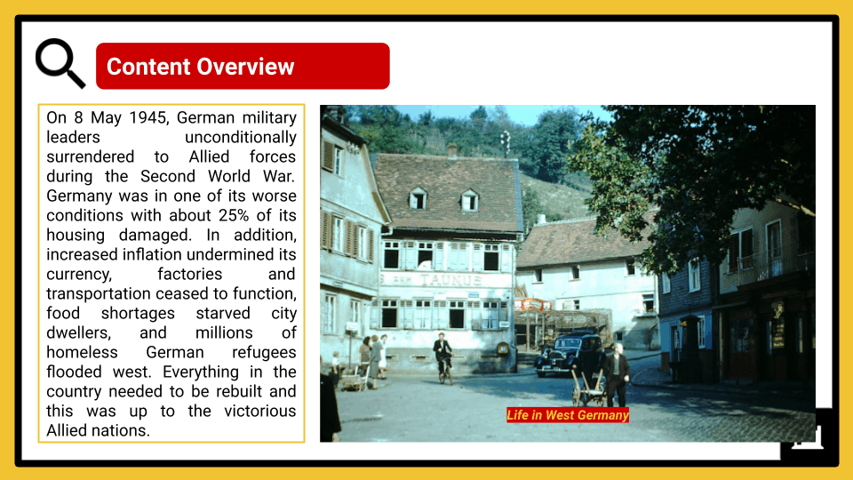 A Level The Federal Republic of Germany, 1945-89 Presentation 1