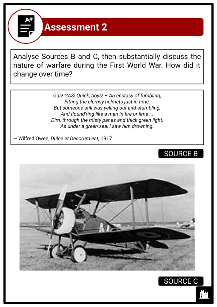 A Level The First World War, 1900-1918 Assessment 3