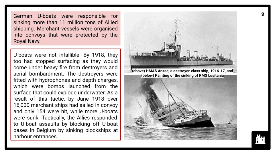 A Level The First World War, 1900-1918 Presentation 4