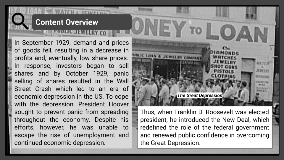 A Level The Great Depression and the New Deal Presentation 1