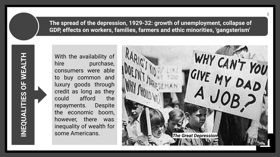 A Level The Great Depression and the New Deal Presentation 2