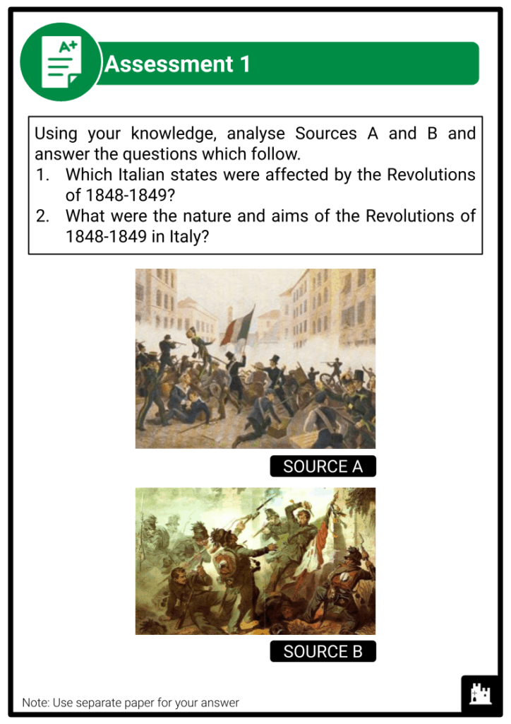 A Level The Revolutions of 1848-1849 and Their Aftermath Assessment 2