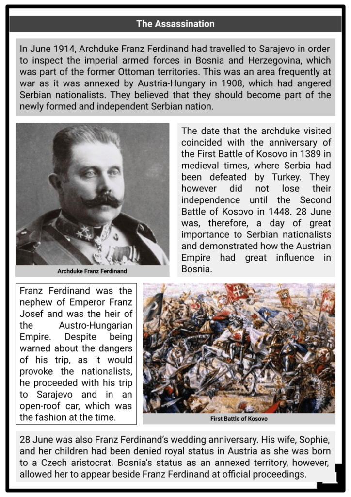 Assassination at Sarajevo Resource Collection 2