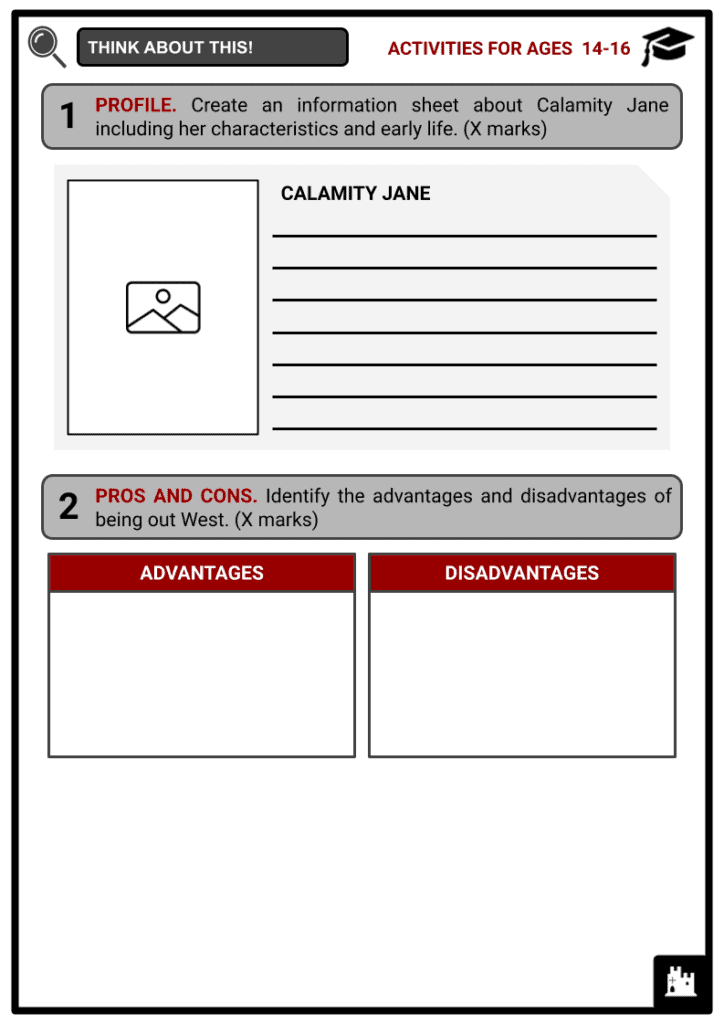Calamity Jane Activities & Answer Guide 3