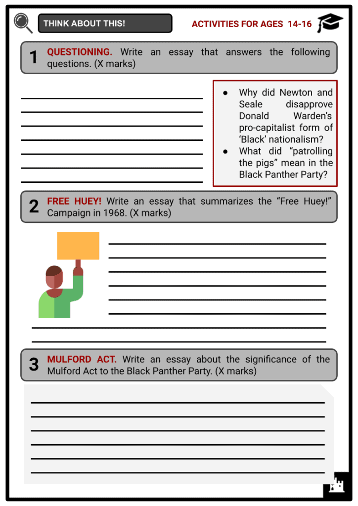 Huey Newton Activities & Answer Guide 3