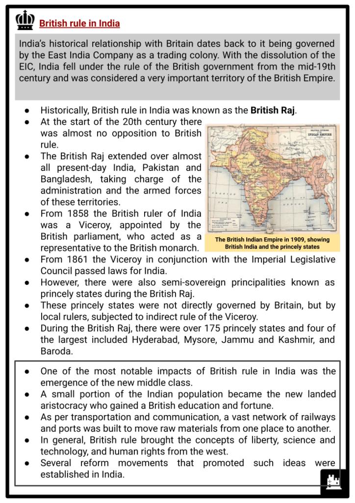 India 1900 to 1947 Resource 2