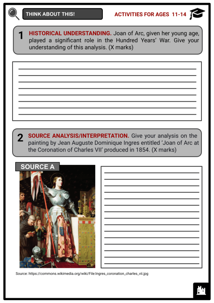 Joan of Arc Activities & Answer Guide 1