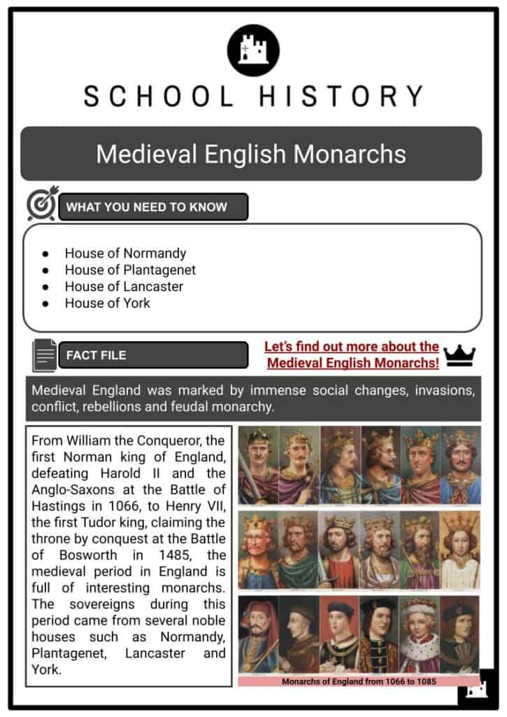 Medieval English monarchs Resource Collection 1