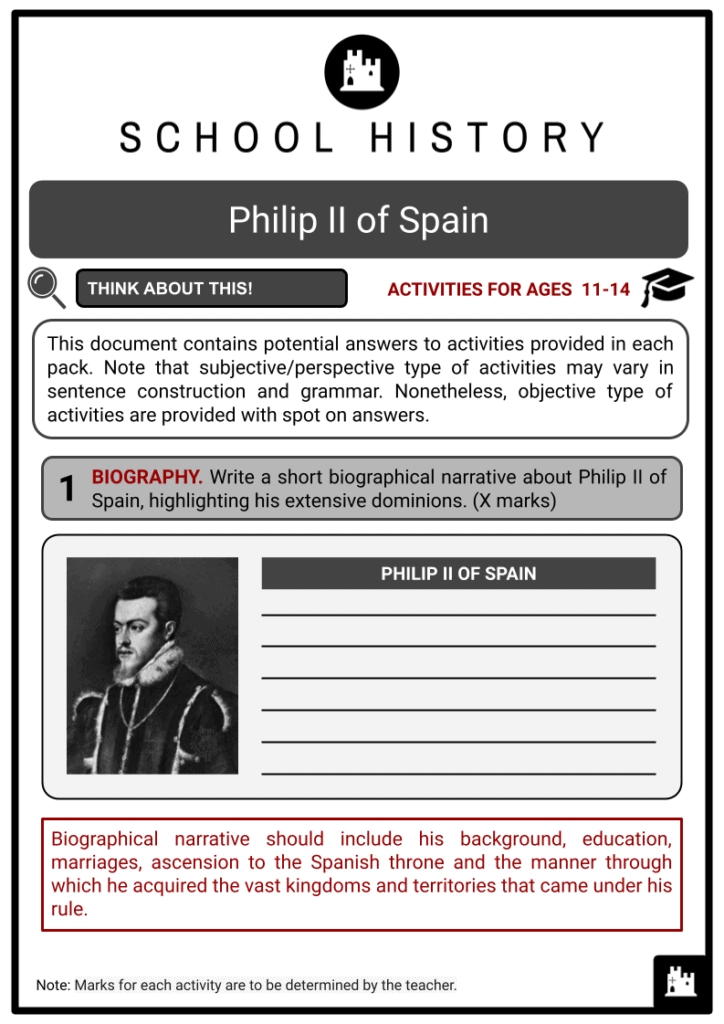 Philip II of Spain Answer Guide (1)