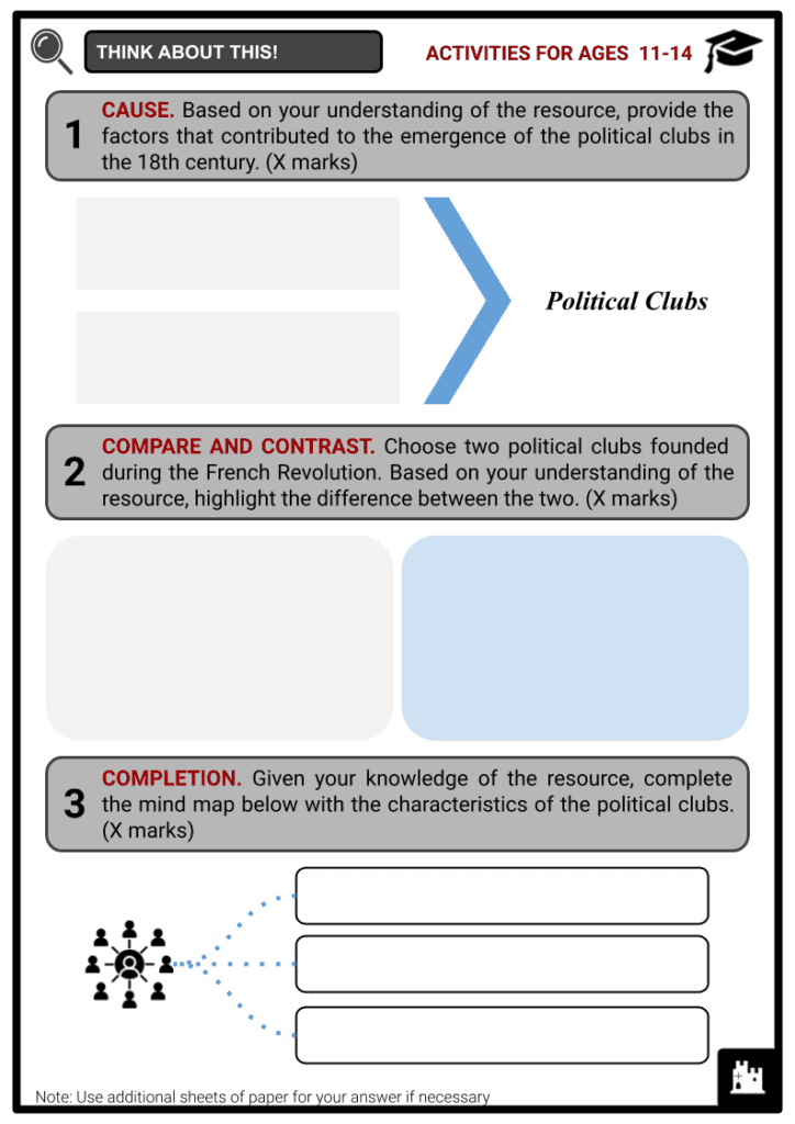 Political Clubs Activities & Answer Guide 1