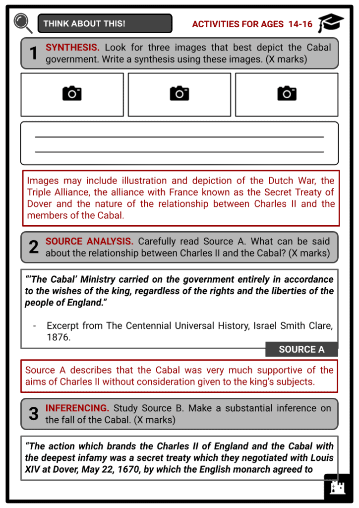 The Cabal Activities & Answer Guide 4