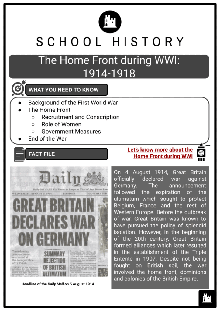 The Home Front during WWI 1914-1918 Resource Collection 1