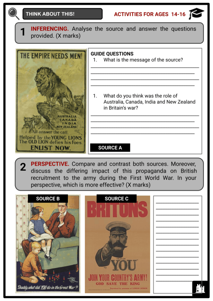 The Home Front during WWI 1914-1918 Student Activities & Answer Guide 3
