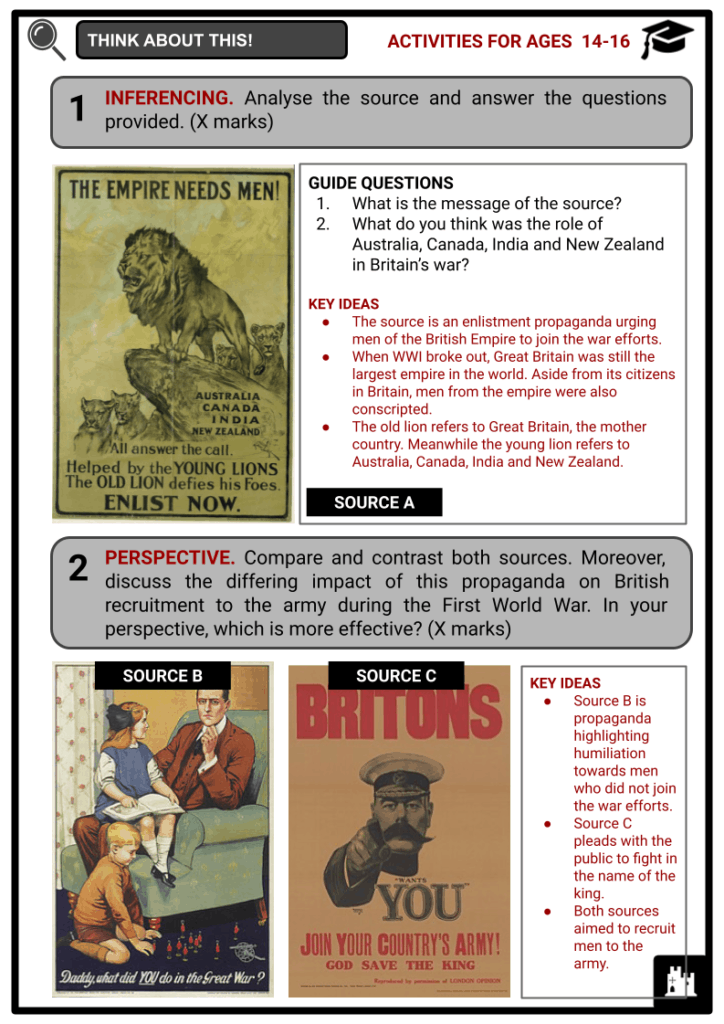 The Home Front during WWI 1914-1918 Student Activities & Answer Guide 4