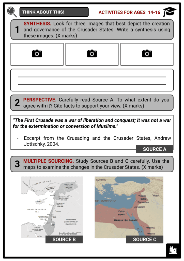 Crusader States Activities & Answer Guide 3